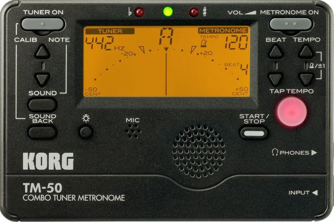 Korg TM-50 Digital Tuner Metronome (Black)